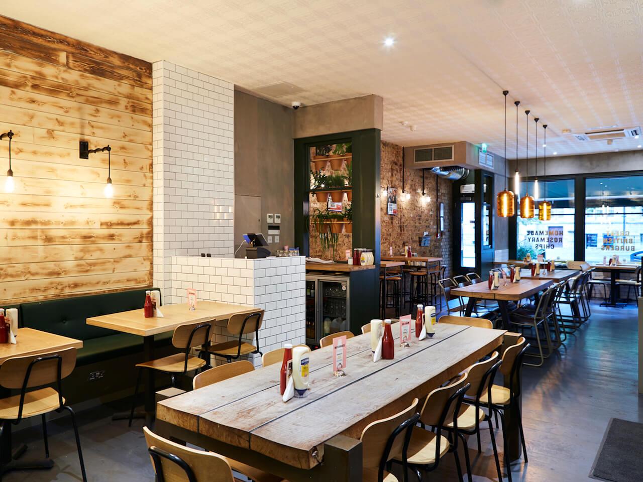 Inside the new Ealing Honest Burgers