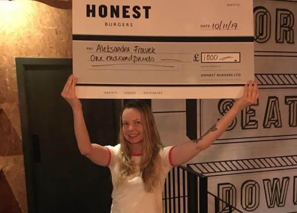 Aleksandra's a winner
