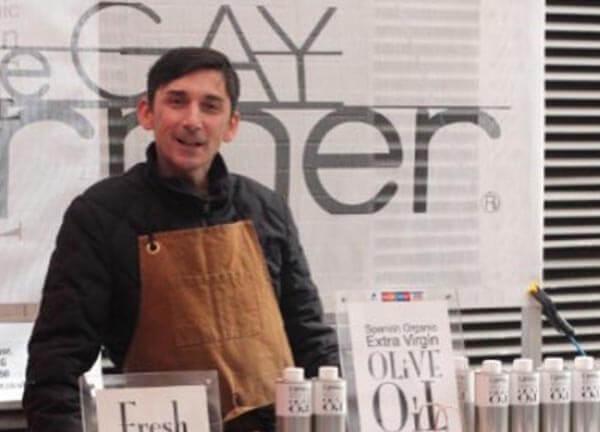 The Gay Farmer at his stall