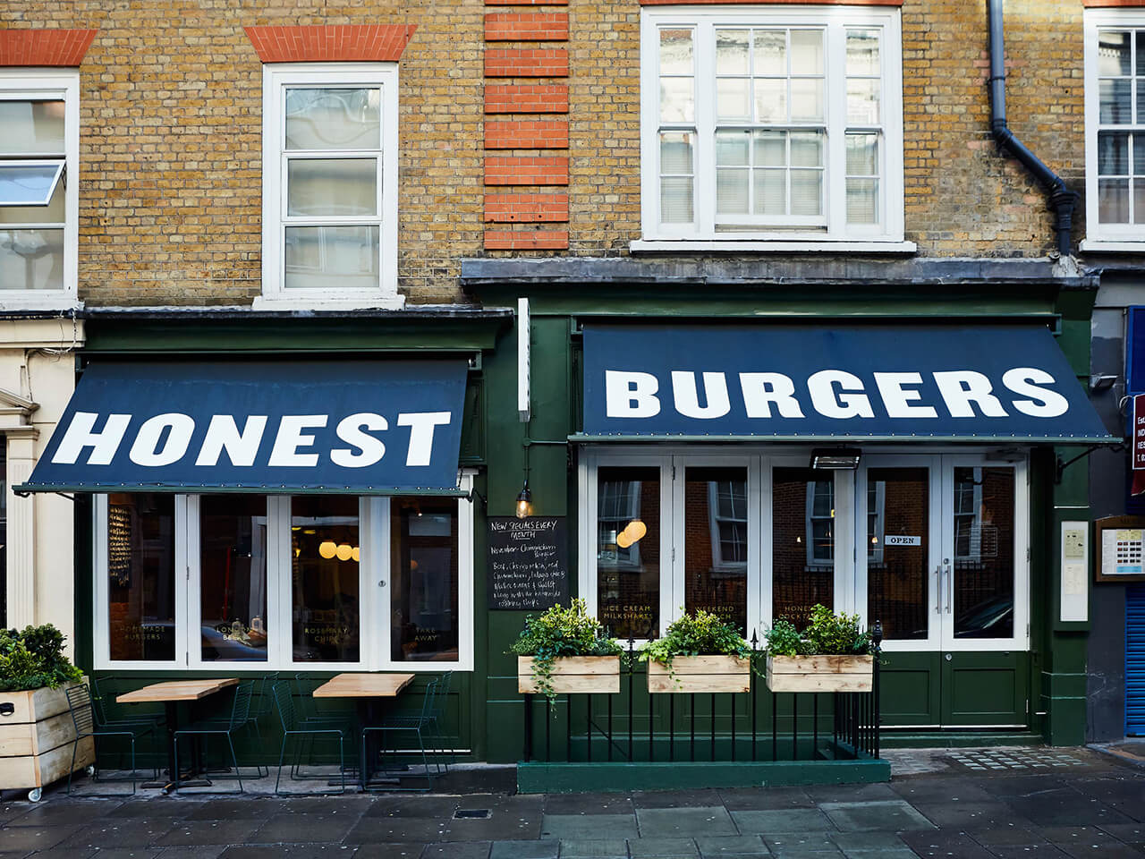 facade at honest burgers st christophers pl