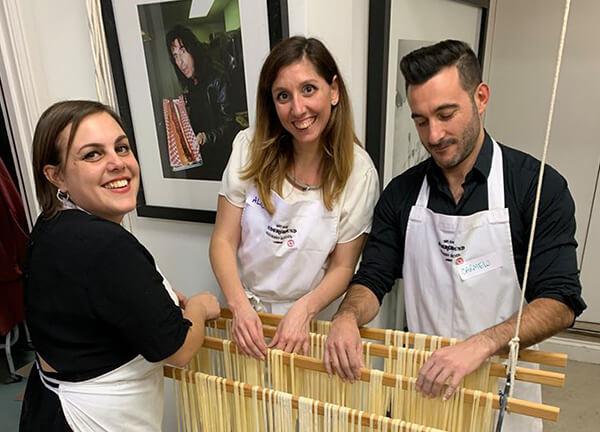 Handmaking pasta
