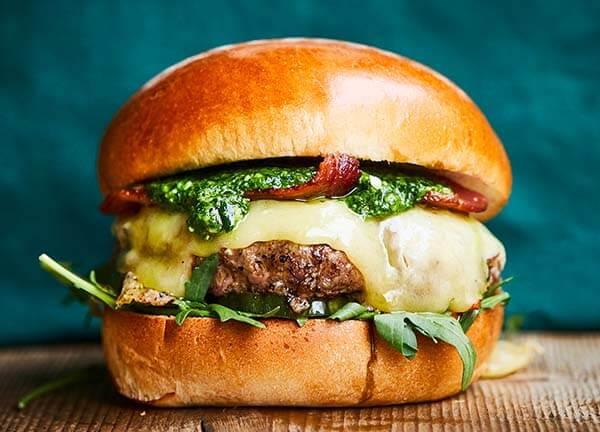 Spring - Beef & Bacon Burger