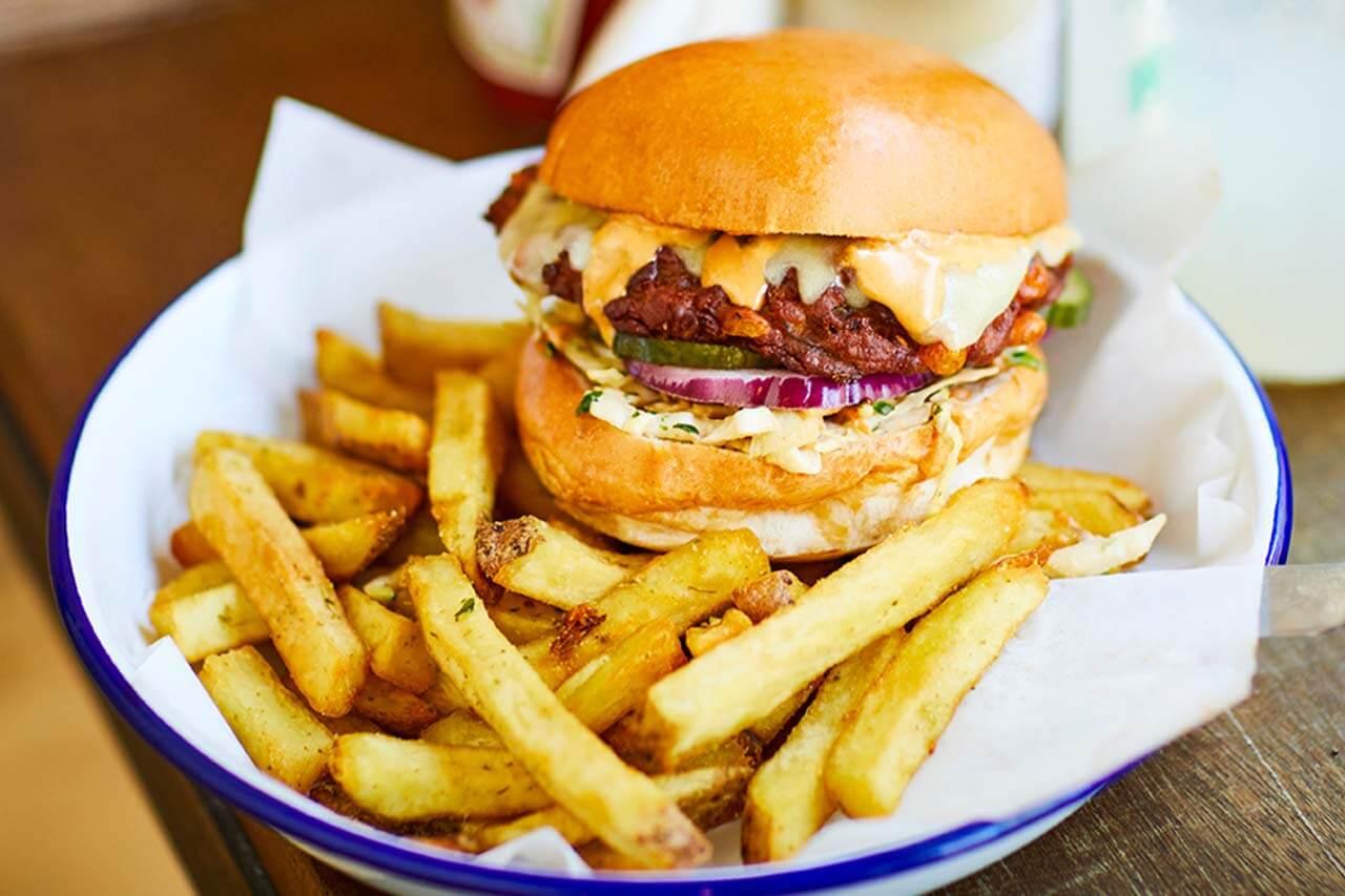 Vegetarian Fritter Burger
