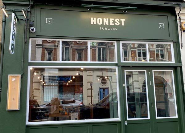Honest burgers Garrick Street Leicester Square
