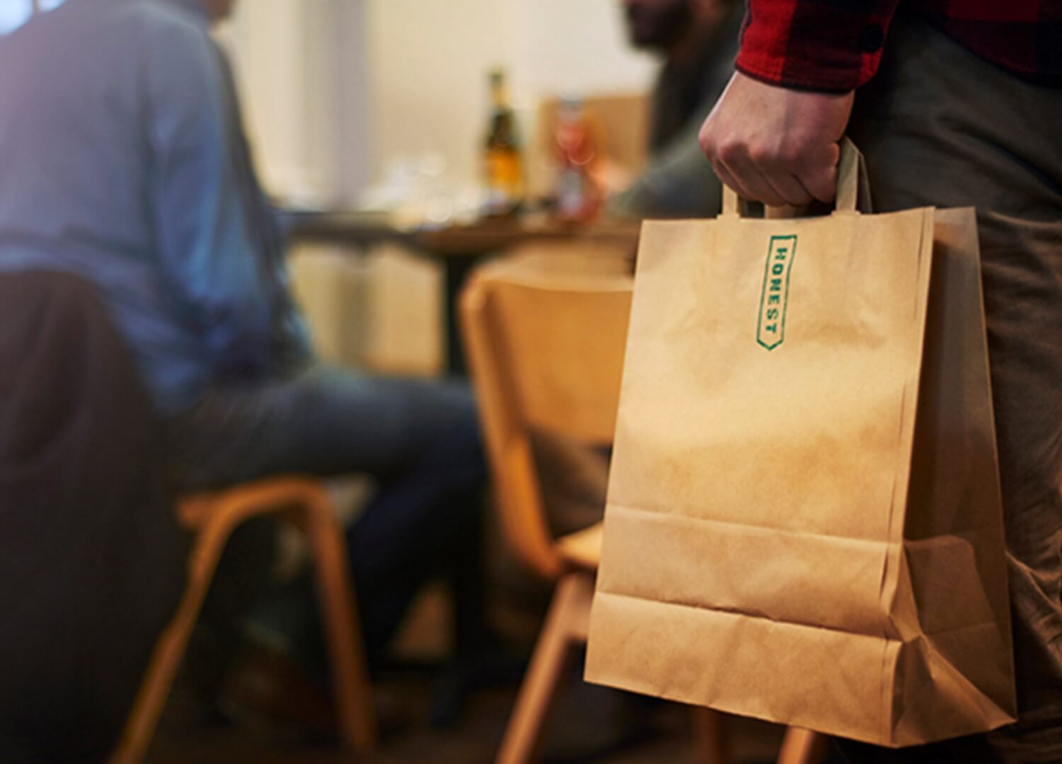 Honest Burgers take out bag