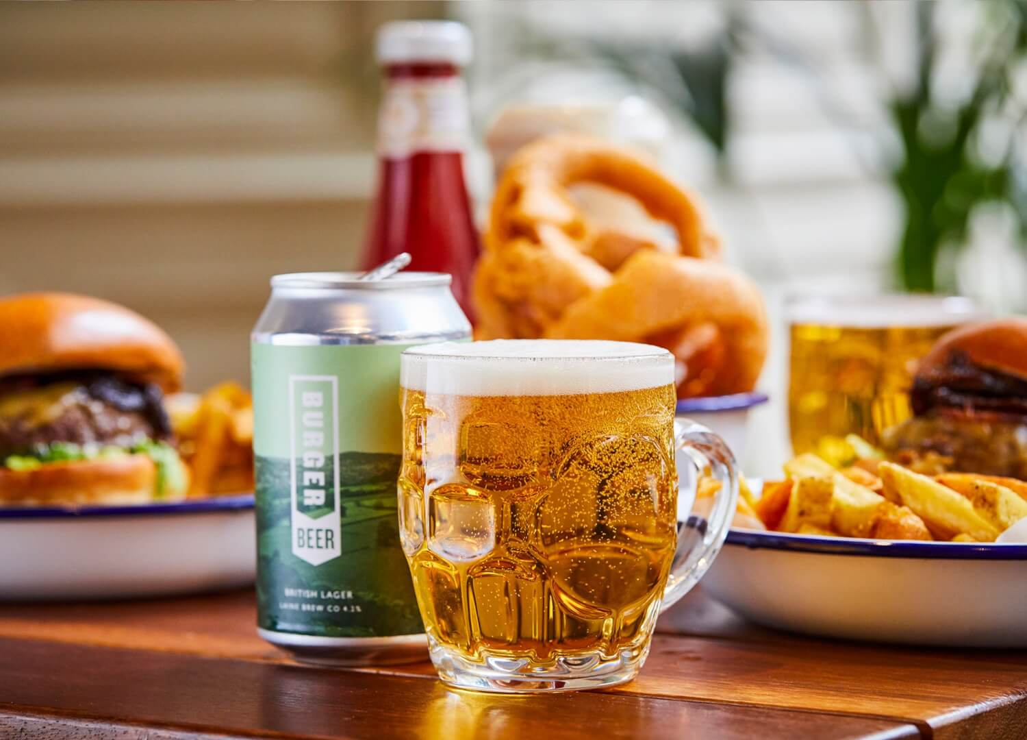 Burger Beer with Honest beef burgers for National burger day
