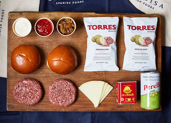 Barcelona DIY burger kit recipe instructions